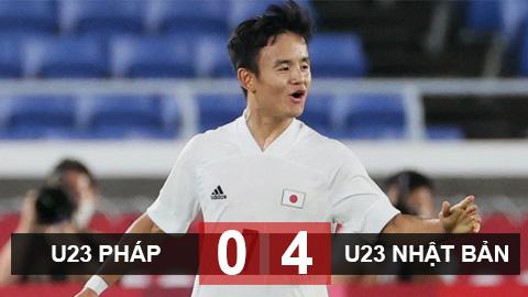 Kết quả U23 Pháp vs U23 Nhật Bản: Thất bại muối mặt