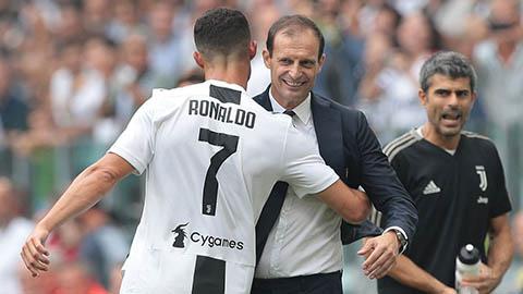 Allegri: 'Bonucci không còn là thủ quân Juventus, Ronaldo không được ưu tiên đá phạt'