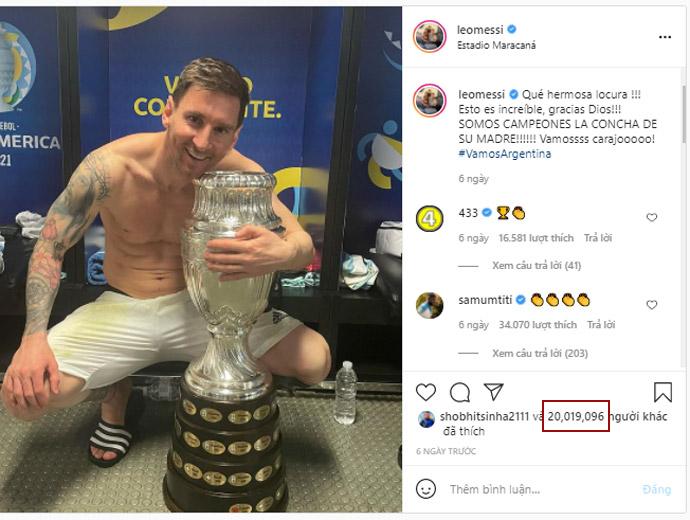 Messi với chức vô địch Copa America 2021