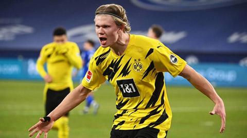 Mùa trước, Haaland đã ghi 27 bàn/28 trận tại Bundesliga