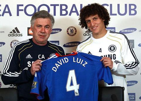 HLV Ancelotti muốn tái ngộ David Luiz tại Real