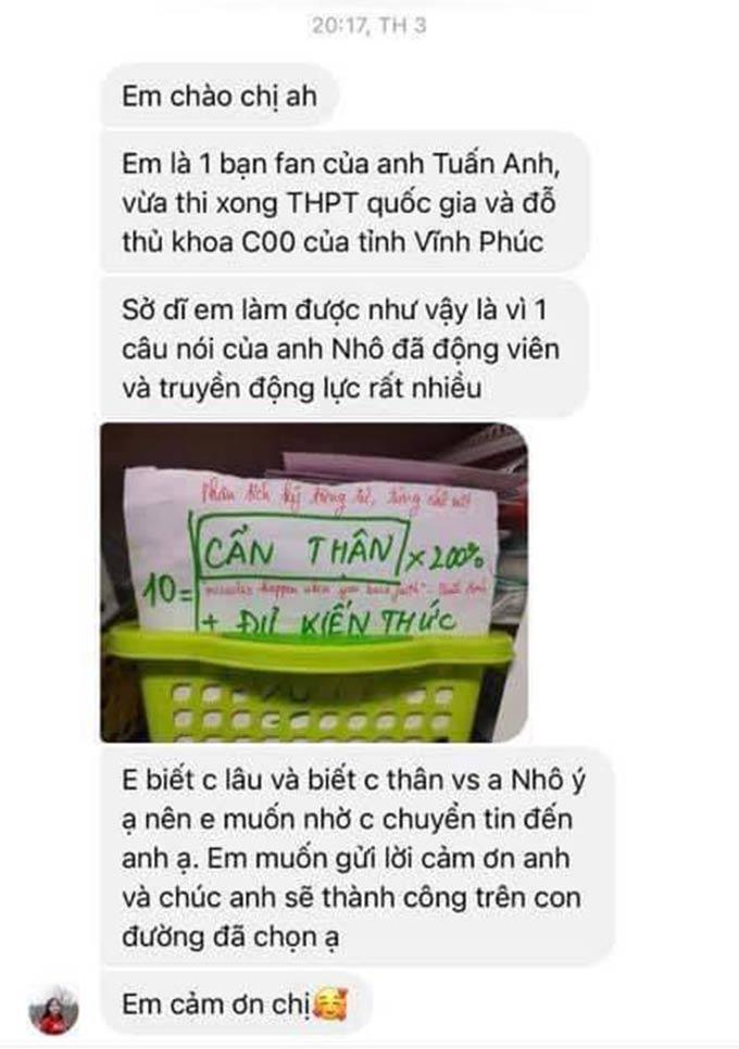 Tin nhắn của nữ sinh đậu thủ khoa gửi đến người chị thân thiết của Tuấn Anh