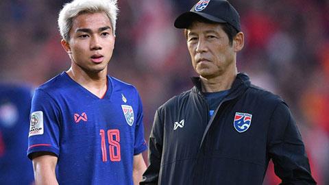 HLV Nishino bị học trò đá ghế khỏi Thái Lan?