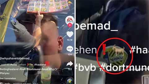 Haaland bị phát hiện mặc đồ của Leeds United