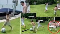 Messi mát mặt khi con trai bộc lộ năng khiếu chơi bóng