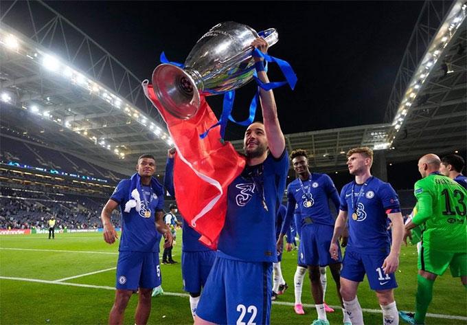Ziyech mới cùng Chelsea vô địch Champions League mùa trước