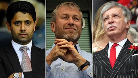 Top ông chủ siêu giàu của làng bóng đá: Abramovich chỉ đứng hạng 5