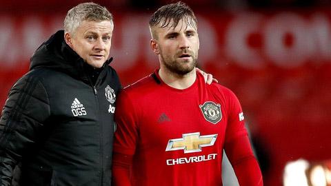 Mùa trước, Luke Shaw đá 47 trận cho Man United trên mọi đấu trường, có 6 pha kiến tạo và 1 bàn thắng