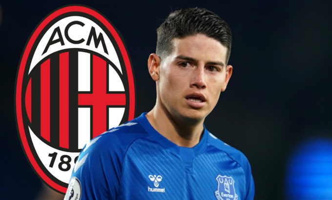 James là mục tiêu theo đuổi của Milan trong mùa Hè 2021