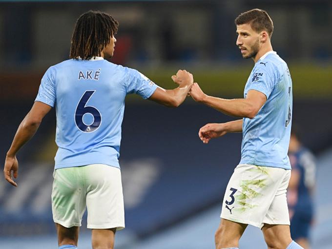 Ruben Dias và Nathan Ake sẽ sát cánh ở trung tâm hàng thủ Man City