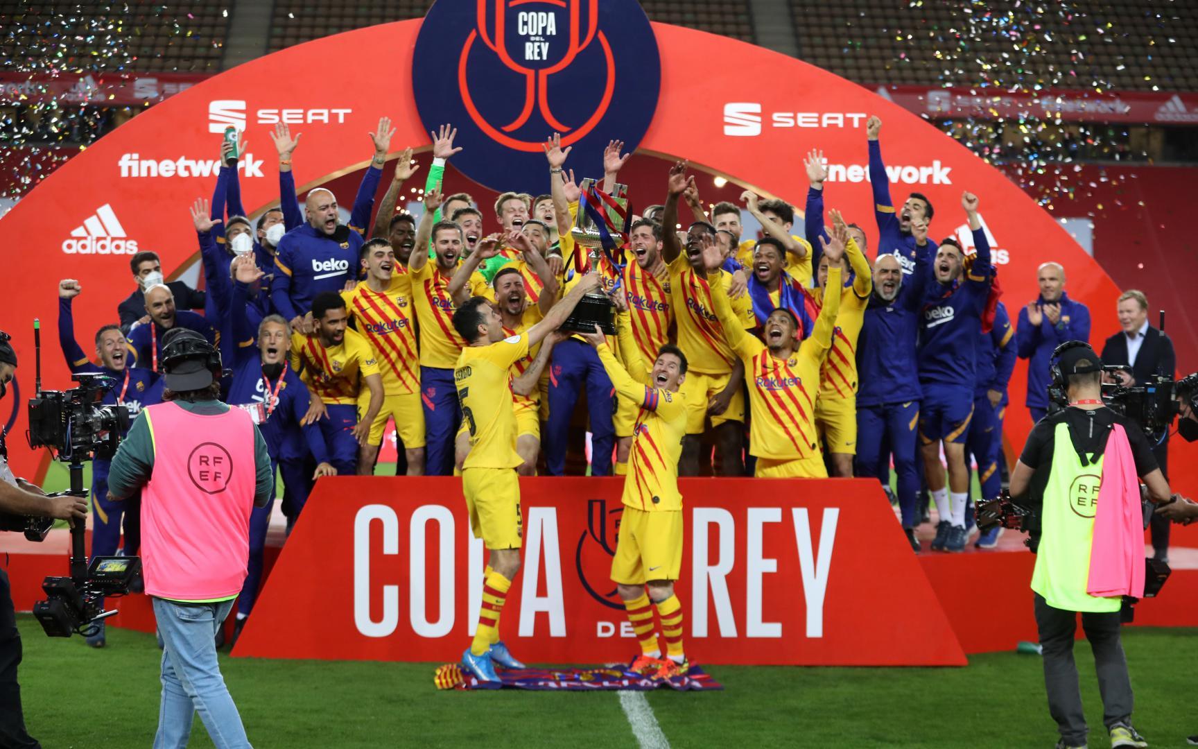 Hai năm qua, Barcelona chỉ có 1 danh hiệu là Cúp Nhà Vua