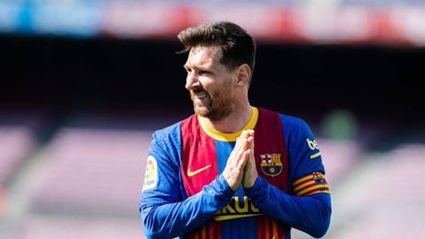 Barcelona không thể ký hợp đồng mới với Messi