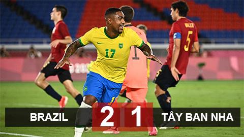 Kết quả U23 Brazil 2-1 U23 Tây Ban Nha: Selecao bảo vệ thành công tấm HCV