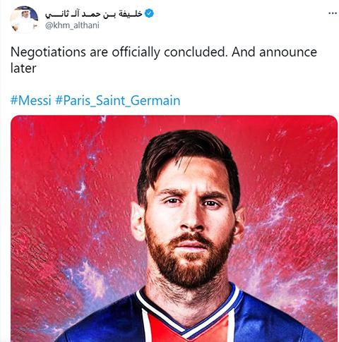 Em trai chủ sở hữu PSG xác nhận đàm phán với Messi đã xong