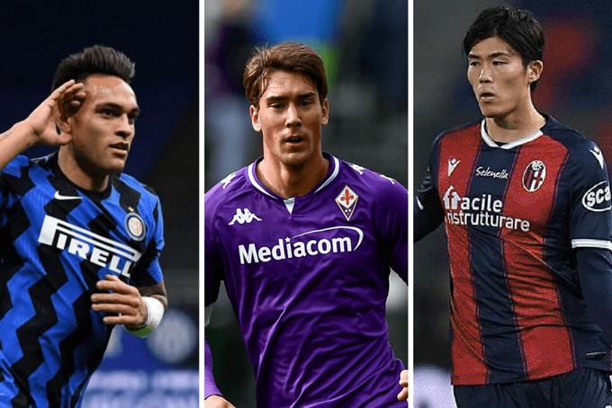 Tottenham đang nhắm tới (trái sang): Lautaro, Vlahovic và Tomiyasu
