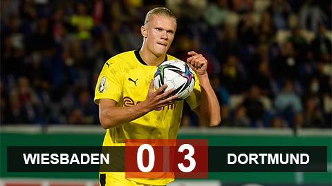 Kết quả Wiesbaden 0-3 Dortmund: Show diễn của Haaland