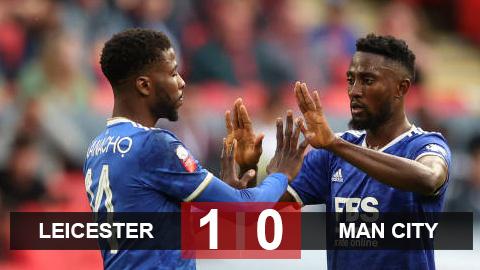 Kết quả Leicester 1-0 Man City: Grealish ra mắt trong thất vọng