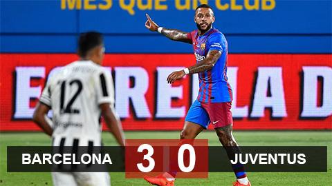 Kết quả Barca 3-0 Juventus: Depay tỏa sáng trong ngày Messi ra đi