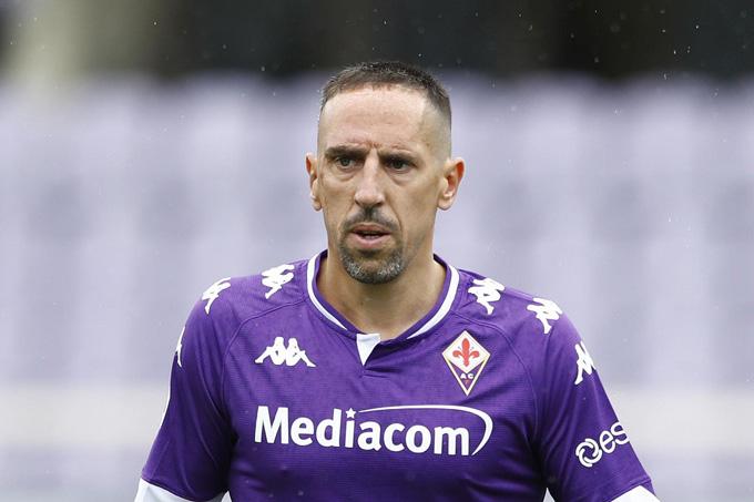 Ribery đang tập ở Bayern