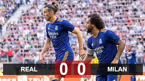 Kết quả Real 0-0 Milan: Alaba ra mắt, Bale sút hỏng penalty