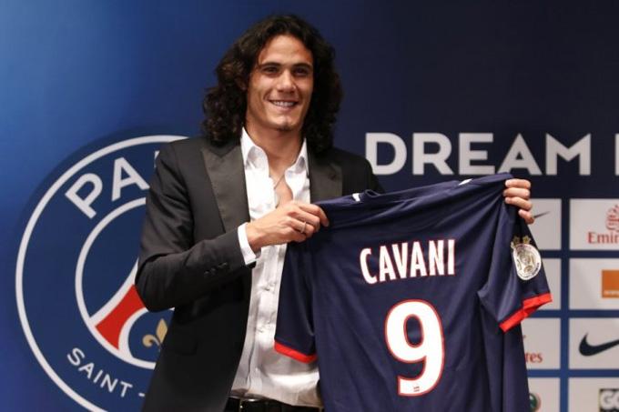 Cavani đến PSG năm 2013