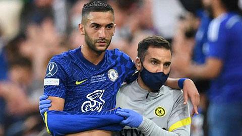 Ziyech chấn thương sau khi ghi bàn cho Chelsea