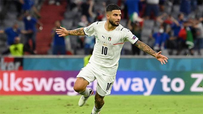 Insigne đã ghi 10 bàn cho ĐT Italia