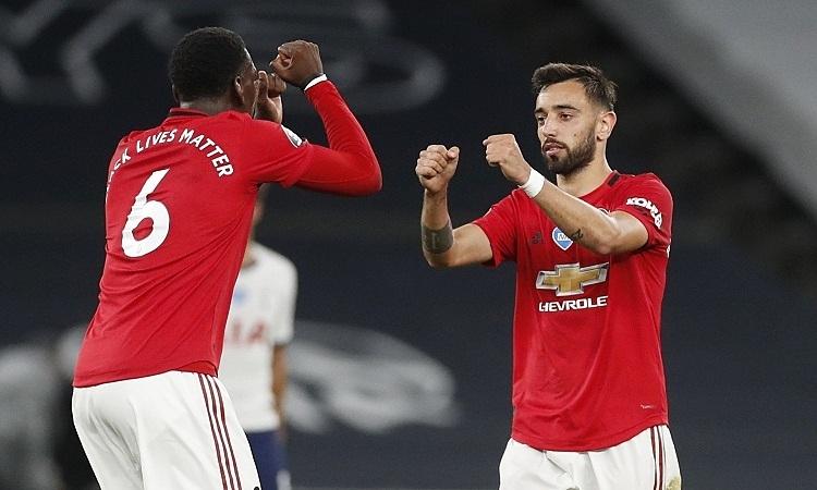 Cặp tiền vệ Pogba - Fernandes đã đóng góp 1 hat-trick bàn thắng, 1 poker kiến tạo trong trận Man United thắng Leeds 5-1