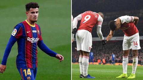 Barca tính đổi Coutinho lấy Aubameyang hoặc Lacazette của Arsenal