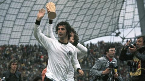 Gerd Mueller và khoảnh khắc vô địch World Cup 1974 cùng đội tuyển Tây Đức