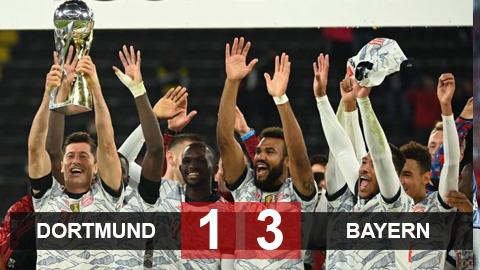 Kết quả Dortmund 1-3 Bayern: Lewandowski mang cúp về cho Hùm xám