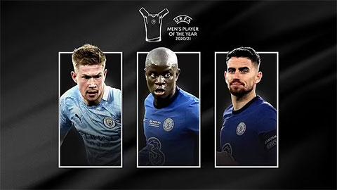 Đề cử rút gọn Cầu thủ xuất sắc nhất UEFA 2020/21: Kante có tên, Messi và Ronaldo bị loại
