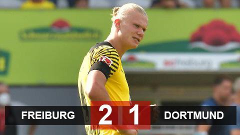 Kết quả Freiburg 2-1 Dortmund: Haaland bất lực, Dortmund trắng tay