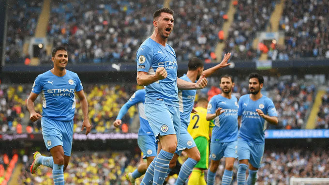 Laporte ghi bàn thứ 3 cho Man City ở trận thắng Norwich 5-0