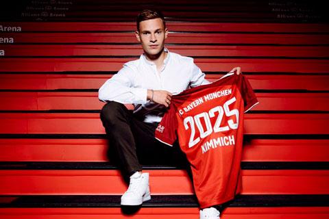 Bayern trói chân thành công Kimmich đến 2025