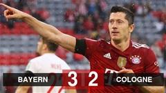 Kết quả Bayern Munich 3-2 Cologne: ĐKVĐ giành 3 điểm hú vía