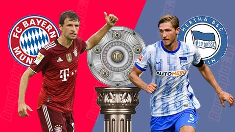 Kết quả Bayern 5-0 Hertha Berlin: Lewandowski vượt mốc 300 bàn cho Hùm xám