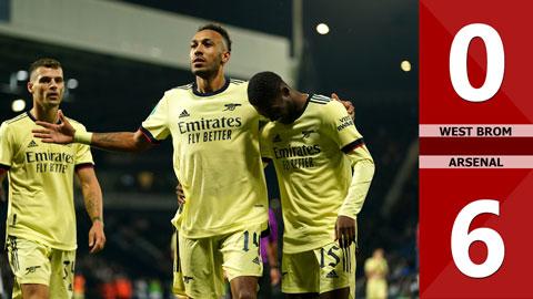 West Brom vs Arsenal: 0-6 (Vòng 2 Cúp Liên đoàn Anh 2021/22)
