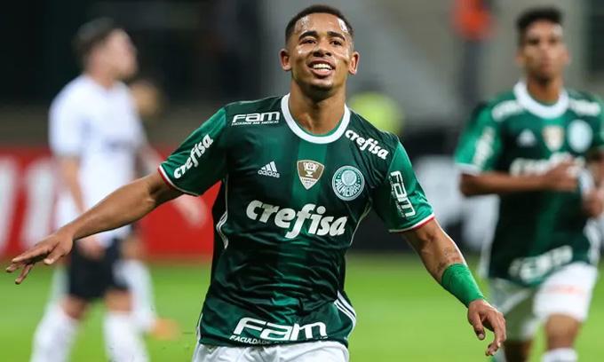 Jesus thời còn khoác áo Palmeiras