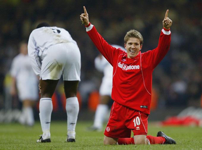 Juninho có tới 3 giai đoạn thi dấu cho Middlesbrough