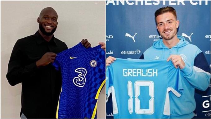 Lukaku và Grealish là 2 bản hợp đồng đắt giá nhất lịch sử Ngoại hạng Anh