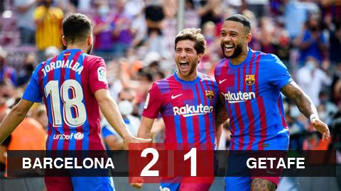 Kết quả Barcelona 2-1 Getafe: Depay lại ghi bàn, Barca giành trọn 3 điểm