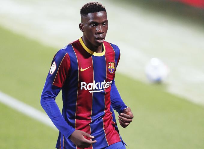 Moriba trong màu áo Barca