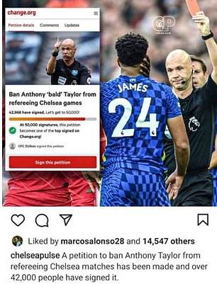 """Marcos Alonso ấn """"like"""" kiến nghị của hội CĐV Chelsea"""