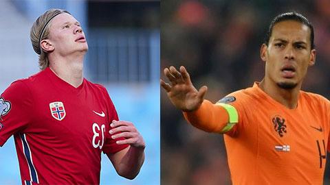 Vòng loại World Cup 2022 khu vực châu Âu: Chờ 'đại chiến' Haaland vs Van Dijk