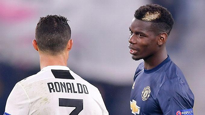 Pogba có thể phải quay về với vòng tròn giữa sân vì Ronaldo
