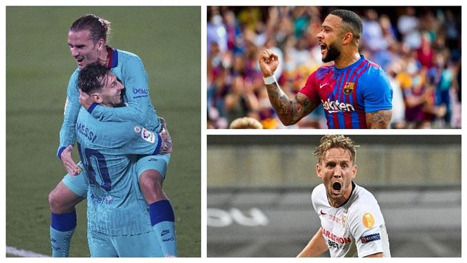 Barca không còn Messi và Griezmann, thay bằng những người kém tên tuổi hơn như Depay hay Luuk de Jong