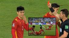 Chiếc thẻ đỏ oan ức của Duy Mạnh ở trận đấu với Saudi Arabia