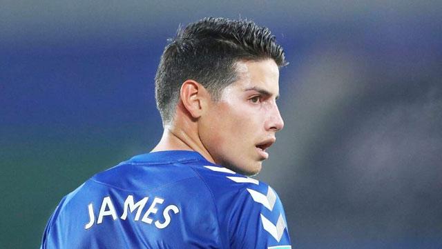 James đối diện với tương lai u ám ở Everton