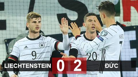 Kết quả Liechtenstein 0-2 Đức: Werner giúp Flick khởi đầu thuận lợi